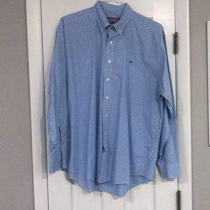 Men's vineyard vines whale  button down shirt sz L